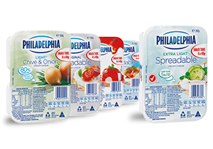 PHILADELPHIA Spreadable Cream Cheese Snack Tubs